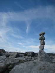 Image of sky and stacked rocks