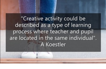 Koestler creativity quotation